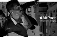 Apple сняла рекламу AirPods в Киеве