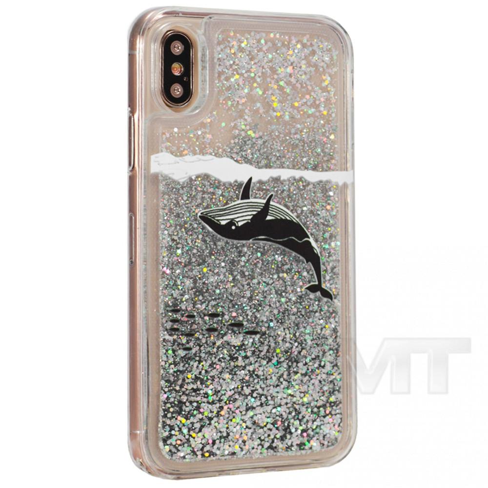 Аквариум с блестками киты TPU Case — Apple iPhone 7 ; Apple iPhone 8 — MultiColor